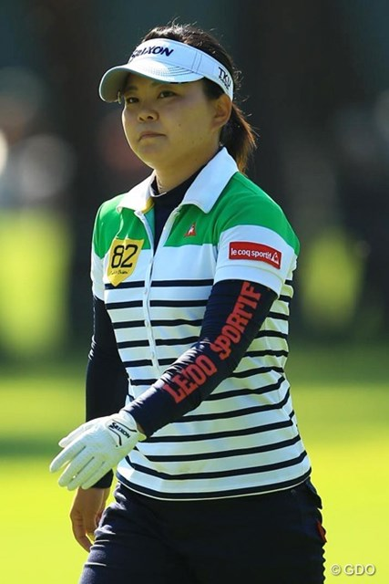 2013年 日本女子オープンゴルフ選手権競技 初日 井芹美保子 出入りが激しいながらも、今日はパッティングがよく入りましたね。2アンダー首位タイ。