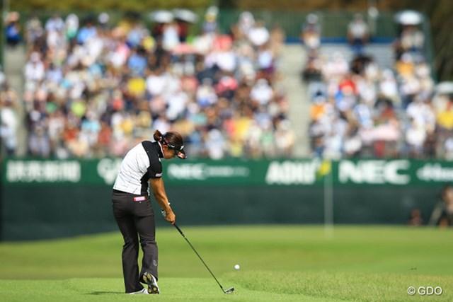 2013年 日本女子オープンゴルフ選手権競技 初日 森田理香子 6652yと距離の長い相模原GC。ロングヒッターの利点を生かせるか・・・。2オーバー25位タイスタート。