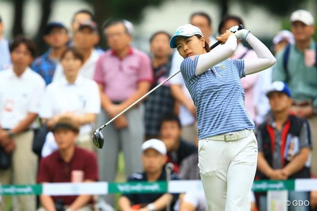 2013年 日本女子オープンゴルフ選手権競技 初日 服部真夕 前半はどうなる事かと思いましたが、後半に巻き返し、イーブンパー7位タイスタートです。