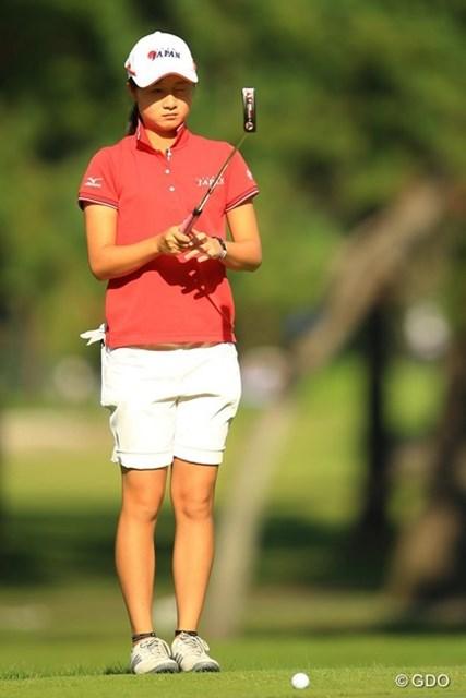 2013年 日本女子オープンゴルフ選手権競技 初日 森田遥 安定したゴルフでイーブンパースタートは、アマチュアのトップです。