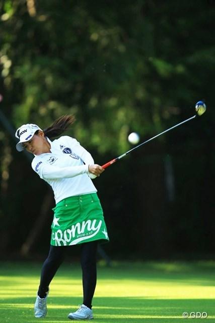 2013年 日本女子オープンゴルフ選手権競技 初日 横峯さくら 苦しいスタートでしたが、何とか盛り返して、1オーバー11位タイスタートです。日本タイトルは是が非でも欲しいですね。