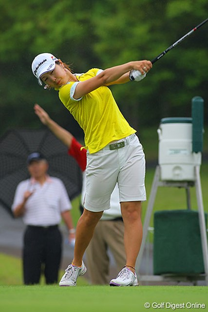 和田委世子 前半にスコアを伸ばし、後半は耐えるゴルフで3位タイの和田委世子