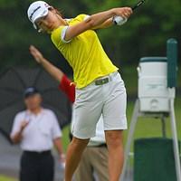 前半にスコアを伸ばし、後半は耐えるゴルフで3位タイの和田委世子 和田委世子