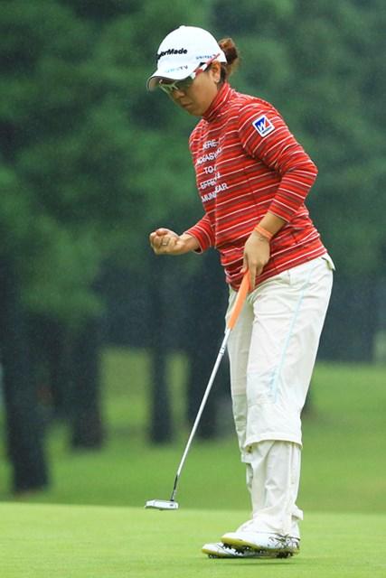 粘り強いプレーを続け、2010年以来となる大会2勝目に王手をかけた宮里美香