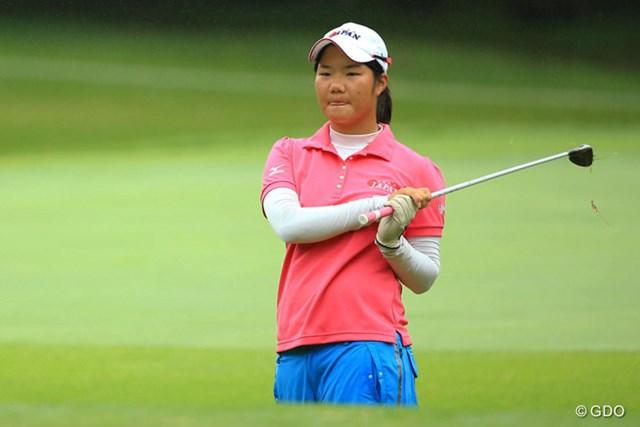 アマチュアの松原由美は16位タイに後退。後半に耐えきれなかった