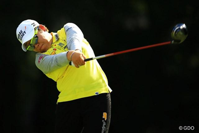 2013年 日本女子オープンゴルフ選手権競技 最終日 申智愛 ショットが絶好調で、もう少しスコアを伸ばせる雰囲気があったのですが・・・。4位タイフィニッシュ。