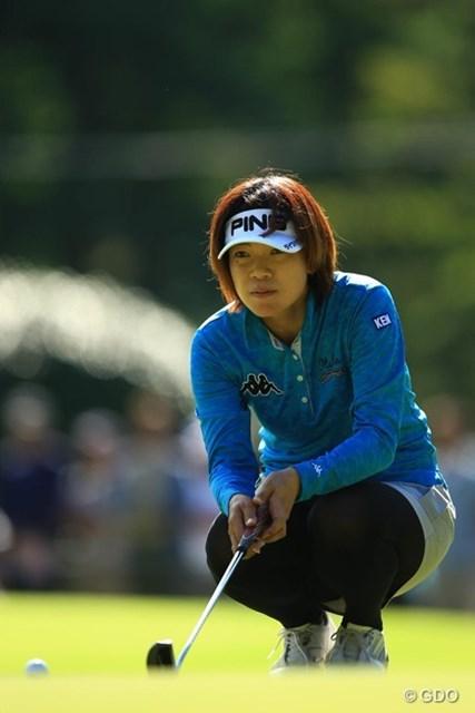 2013年 日本女子オープンゴルフ選手権競技 最終日 大山志保 バーディ先行で、今日はまた志保ちゃんの日?と思わせましたが、8番Par5のダボで気持ちが途切れてしまったようです。単独11位フィニッシュ。