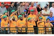 2013年 プレジデンツカップ 3日目 世界選抜の応援団