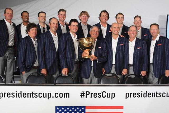 2013年 プレジデンツカップ 最終日 米国選抜 ダブルスでリードを稼いだ米国選抜が勝利! 通算成績を8勝1敗1分けとした(David Cannon /Getty Images)