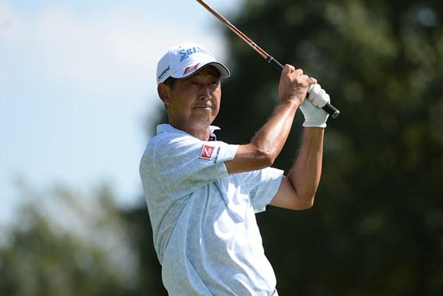 2013年 日本プロゴルフシニア選手権大会 2日目 渡辺司 単独首位に浮上して決勝ラウンドに折り返した渡辺司 ※画像提供:日本プロゴルフ協会