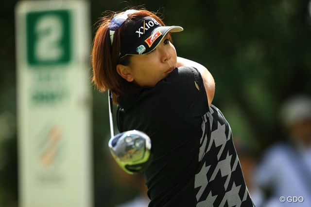 2013年 スタンレーレディスゴルフトーナメント 初日 吉田弓美子 使い始めて3日目のニュードライバーで好スコアをマークした吉田弓美子