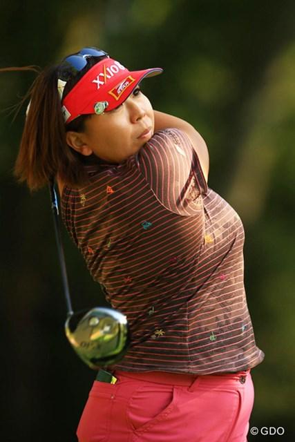 2013年 スタンレーレディスゴルフトーナメント 2日目 吉田弓美子 2日目もドライバーは安定していた吉田は3位タイで踏ん張った