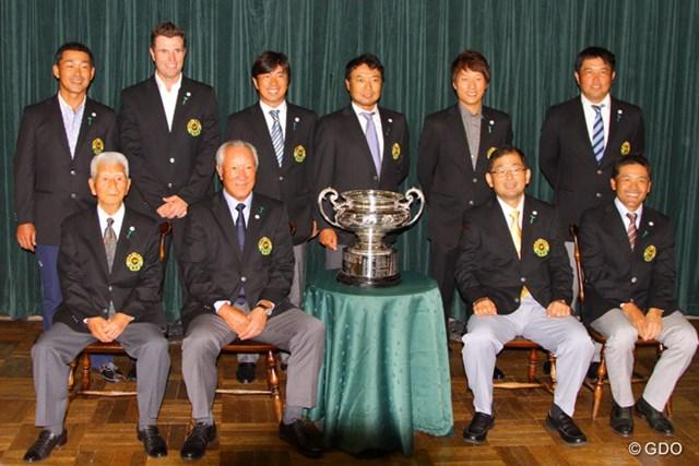 今年も日本オープン覇者が集い、開幕前日に晩餐会が行われた
