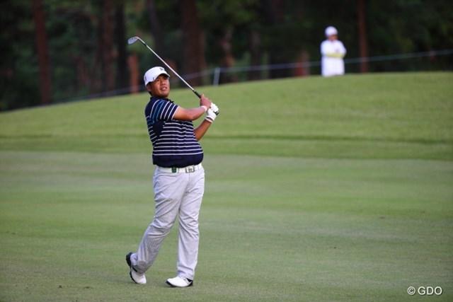2013年 日本オープンゴルフ選手権競技 初日 甲斐慎太郎 シード権を持たない甲斐は繰り上がり出場のチャンスを見事に活かして首位タイ発進を決めた。