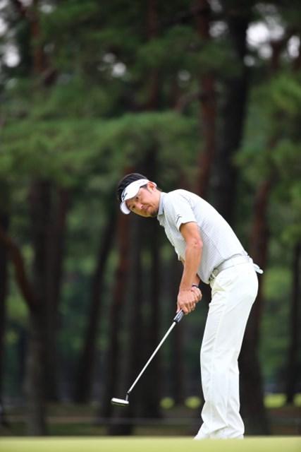 2013年 日本オープンゴルフ選手権競技 3日目 小林正則 クロスハンドに、クローズスタンス…小林はシーズン後半戦に変更したパッティングスタイルで逆転を狙う