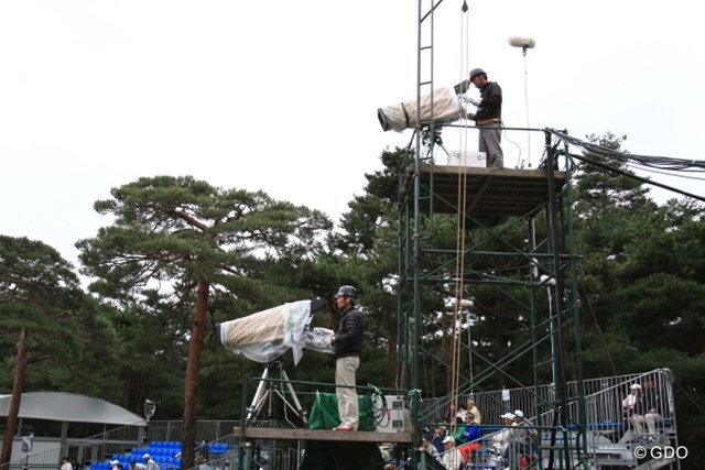 2013年 日本オープンゴルフ選手権競技 3日目 TVカメラ 2枚刃。