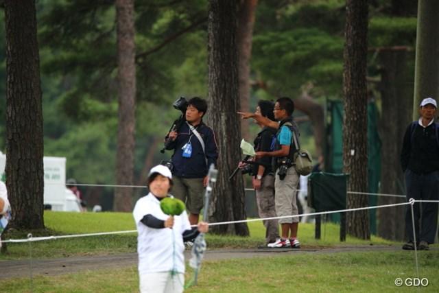 2013年 日本オープンゴルフ選手権競技 3日目 カメラマン さて、誰撮りに行こ・・・