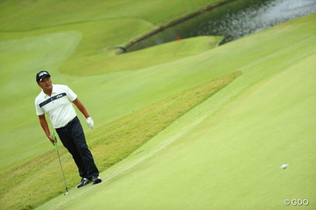 2013年 日本オープンゴルフ選手権競技 3日目 小田孔明 最終18番、惜しくもバーディーならず。