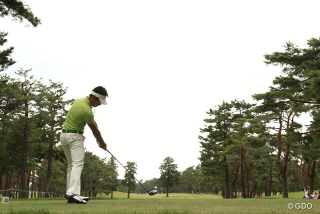 2013年 日本オープンゴルフ選手権競技 3日目 矢野東 腕が伸びてて綺麗なインパクトだなぁ。