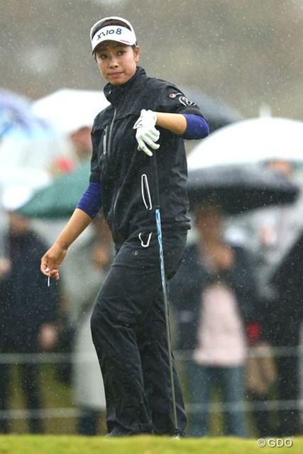 2013年 富士通レディース 最終日 森田理香子 雨は選手もつらいですよね