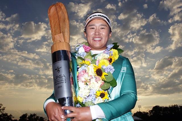 2013年 LPGAハナバンク選手権 最終日 エイミー・ヤン 地元韓国で米ツアー初優勝を果たしたエイミー・ヤン(Chung Sung-Jun/Getty Images)