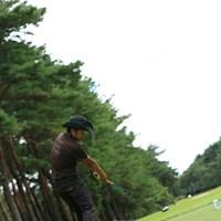 ここは右から軽いドローではなく、FWでストレートボール! 2013年 日本オープンゴルフ選手権競技 5日目 片山晋呉