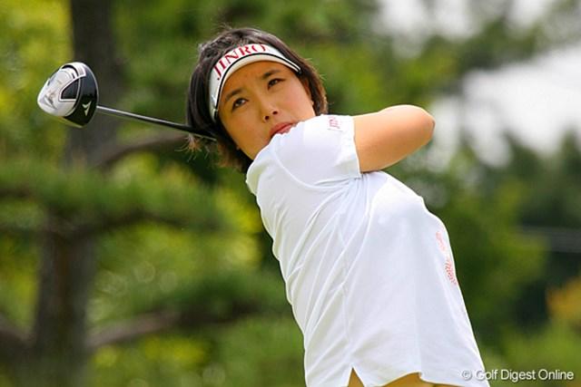 3バーディ、2ボギーと安定感のあるゴルフで5位タイにつけた全美貞