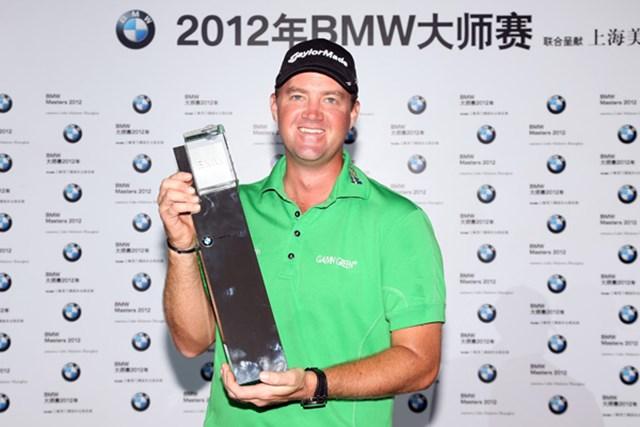 2013年 BMWマスターズ 事前 ピーター・ハンソン 昨年はP.ハンソンが逃げ切りで中国での戦いを制した(Ross Kinnaird/Getty Images)