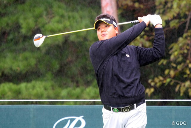 2013年 ブリヂストンオープンゴルフトーナメント 初日 金聖潤 雨、風が強くなってもプレーに集中できたという金聖潤