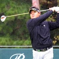 雨、風が強くなってもプレーに集中できたという金聖潤 2013年 ブリヂストンオープンゴルフトーナメント 初日 金聖潤