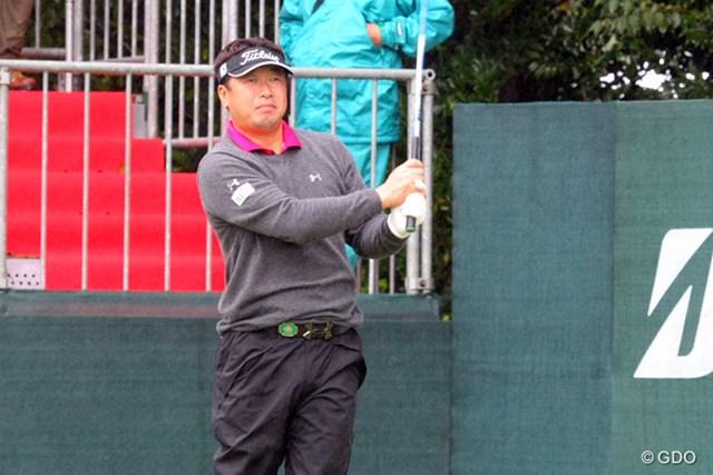 2013年 ブリヂストンオープンゴルフトーナメント 事前情報 丸山大輔 1番からドライバーショットを曲げたがノーボギーで切り抜けた丸山大輔