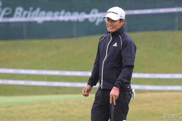 2013年 ブリヂストンオープンゴルフトーナメント 初日 I.J.ジャン いつも冷静なI.J.ジャンがバーディパットを外し本気で悔しがっていました