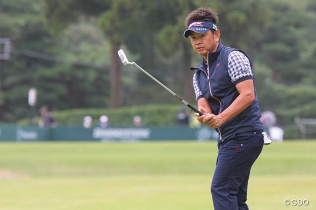 2013年 ブリヂストンオープンゴルフトーナメント 初日 藤田寛之 ショット、パットがかみ合わず66位タイと出遅れた藤田寛之