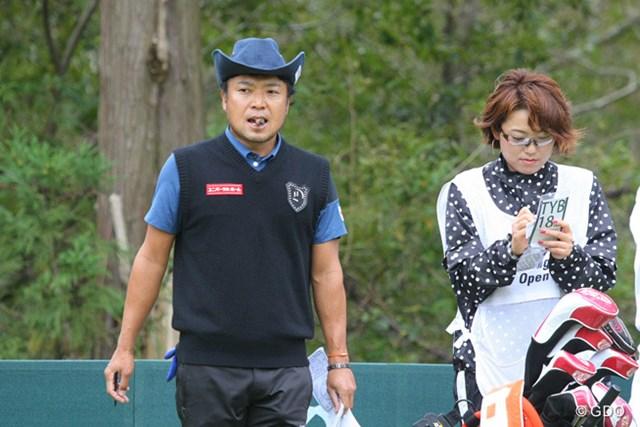 2013年 ブリヂストンオープンゴルフトーナメント 初日 片山晋呉 兄妹のタッグで挑む片山晋呉は後半崩れ66位タイ