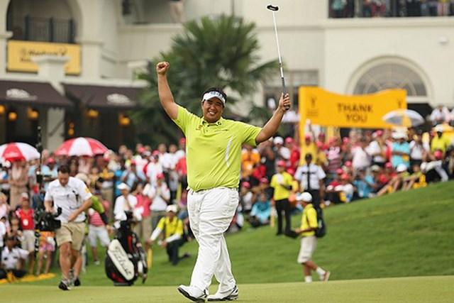 2013年 CIMBクラシック キラデク・アフィバーンラト アジアンツアーのトッププレーヤーとなったアフィバーンラト。相性のいいマレーシアの地でさらに飛躍?(Getty Images)