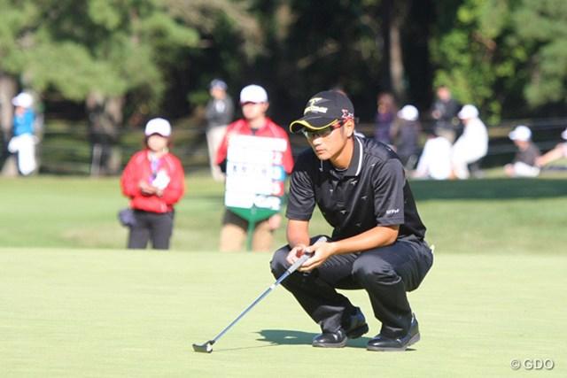 2013年 ブリヂストンオープンゴルフトーナメント 最終日 嘉数光倫 3度目のツアー出場も十分に楽しめたと話す嘉数光倫