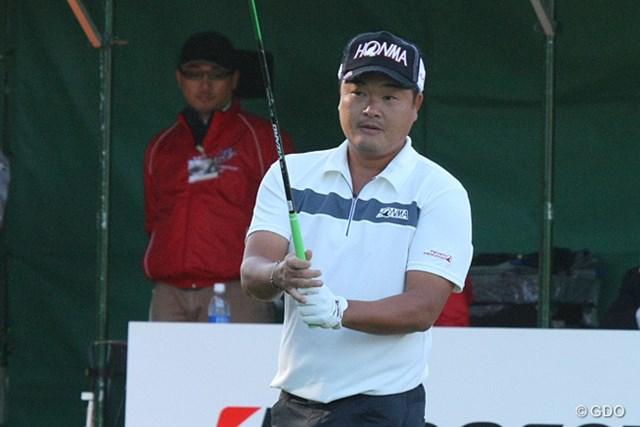 2013年 ブリヂストンオープンゴルフトーナメント 最終日 小田孔明 前日プレーした1番をやり直して3位タイに食い込んだ小田孔明