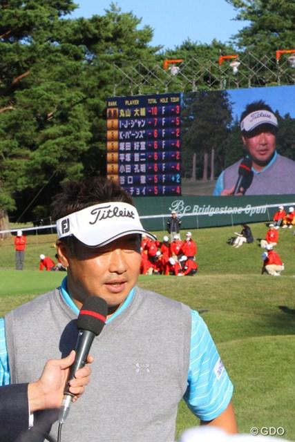 2013年 ブリヂストンオープンゴルフトーナメント 最終日 丸山大輔 テレビの優勝インタビューでは思わず言葉に詰まるシーンも
