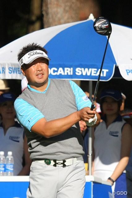 2013年 ブリヂストンオープンゴルフトーナメント 最終日 丸山大輔 後半封印していたドライバーを18番で使用した丸山大輔
