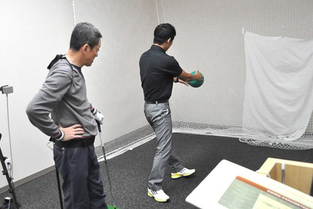 golftec 左サイドの壁は右サイドで作る! 2-1
