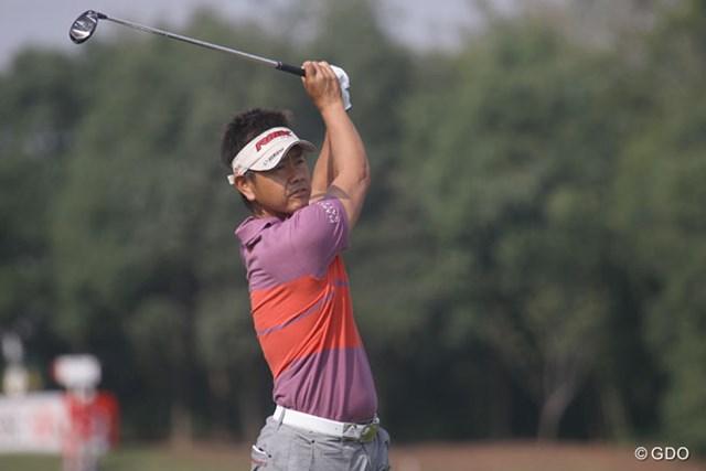 2013年 WGC HSBCチャンピオンズ 2日目 藤田寛之 この日唯一のアンダーパーをマークした藤田寛之。だが、まだまだ上位は遠い