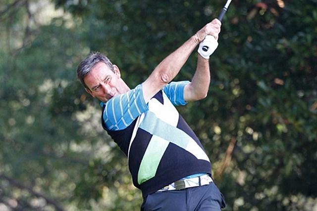 2013年 第23回日本シニアオープンゴルフ選手権競技 2日目 ポール・ウェセリン 難セッティングの中で唯一の60台! イングランド出身のP.ウェセリンが単独首位へ ※画像提供:日本ゴルフ協会