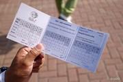 2013年 WGC HSBCチャンピオンズ 2日目 もう1枚のスコアカード