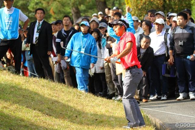 上位で決勝ラウンドに進出したアマチュア和田だったが、79と悔しい土曜日に。