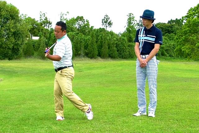 ゴルフクラブの取扱説明書 Vol.7 シャフトをうまく使って飛ばす方法 2P 腰を回し過ぎないことが大事