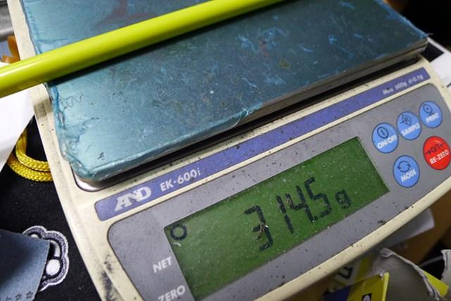 マーク試打 ブリヂストン ツアーステージ X-DRIVE 709 リミテッド フレックスSの総重量は314.5g。上級者向けのスペックだ