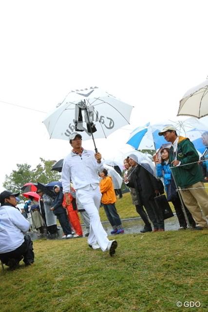 2013年 HEIWA・PGM CHAMPIONSHIP in 霞ヶ浦 初日 石川遼 久しぶりの国内ツアー参戦にしてはギャラリーが少なめ?