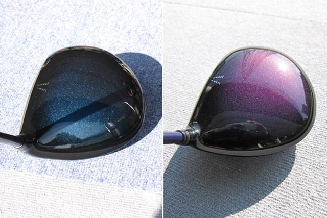 新製品レポート ダンロップ ゼクシオ エイト ドライバー どちらもゼクシオエイト。見る角度によって色が変化する