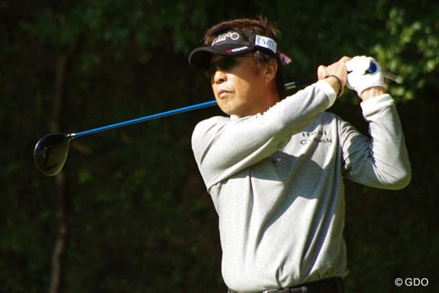 2013年 富士フォルムシニアチャンピオンシップ 2日目 奥田靖己 「ゴルフはハート」。奥田靖己がツアー初優勝を懸け単独首位で最終日へ