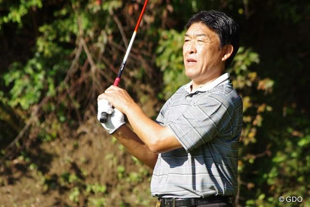 2013年 富士フイルムシニアチャンピオンシップ 2日目 羽川豊 最終日を前に15位タイに後退した羽川豊は早々の白旗宣言・・・